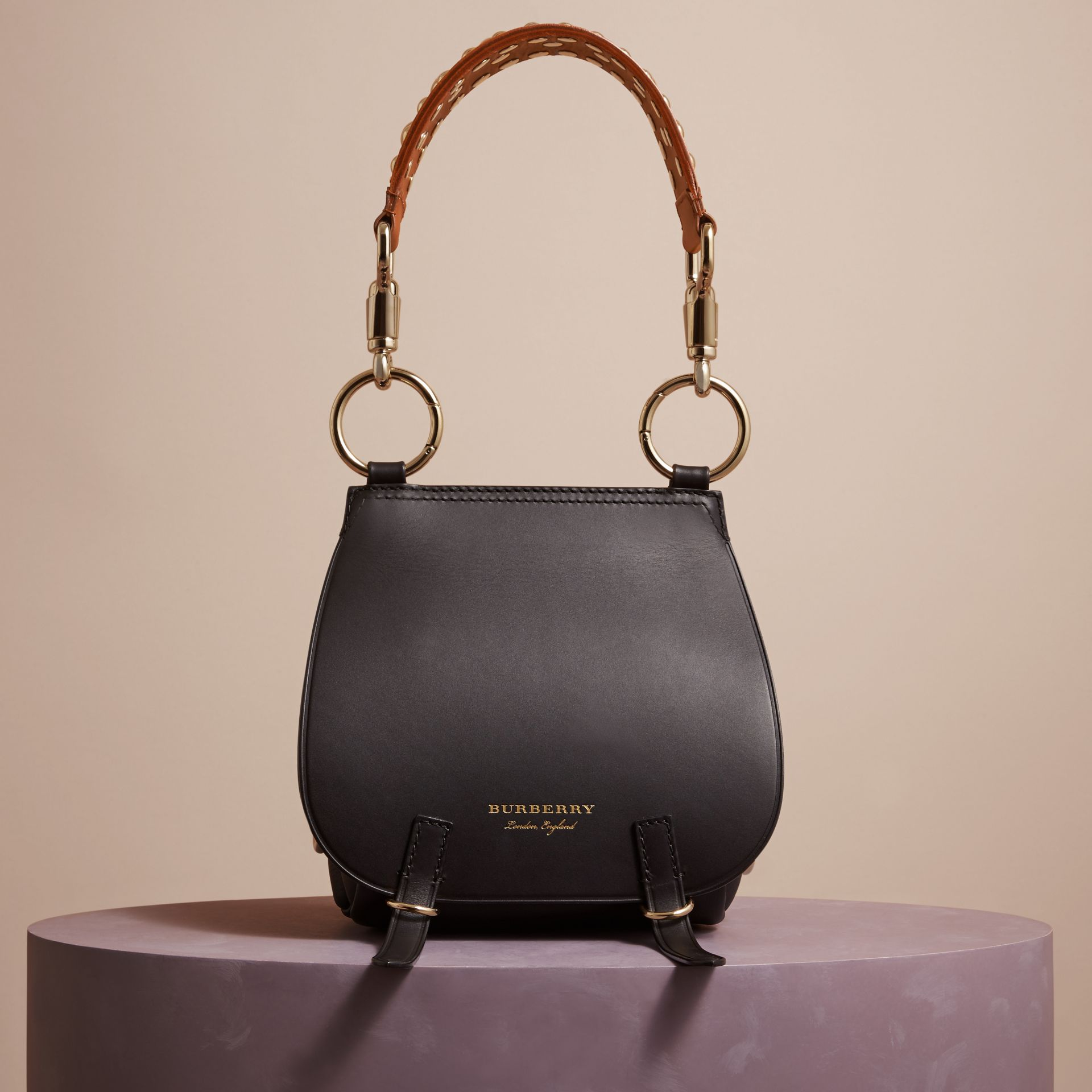 The Bridle Bag in Leather in Black - Women | Burberry - gallery image 8
