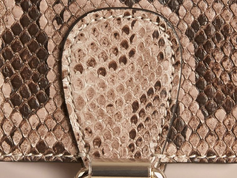 Stone The Small Saddle Bag in Smooth Leather and Python - cell image 1