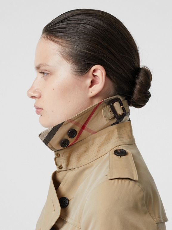 The Sandringham – Short Trench Coat in Honey - Women | Burberry - cell image 1
