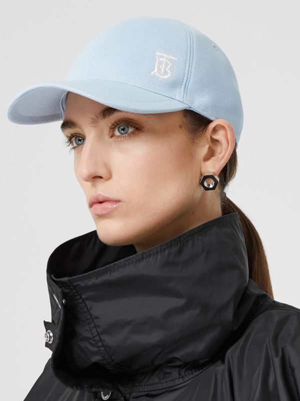 Monogram Motif Baseball Cap in Pale Blue | Burberry - cell image 2