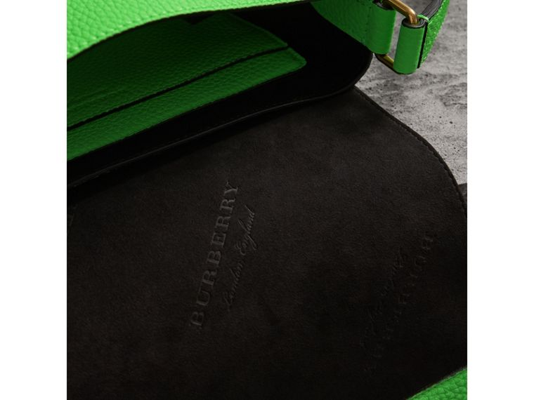 Small Embossed Neon Leather Messenger Bag in Green | Burberry - cell image 4