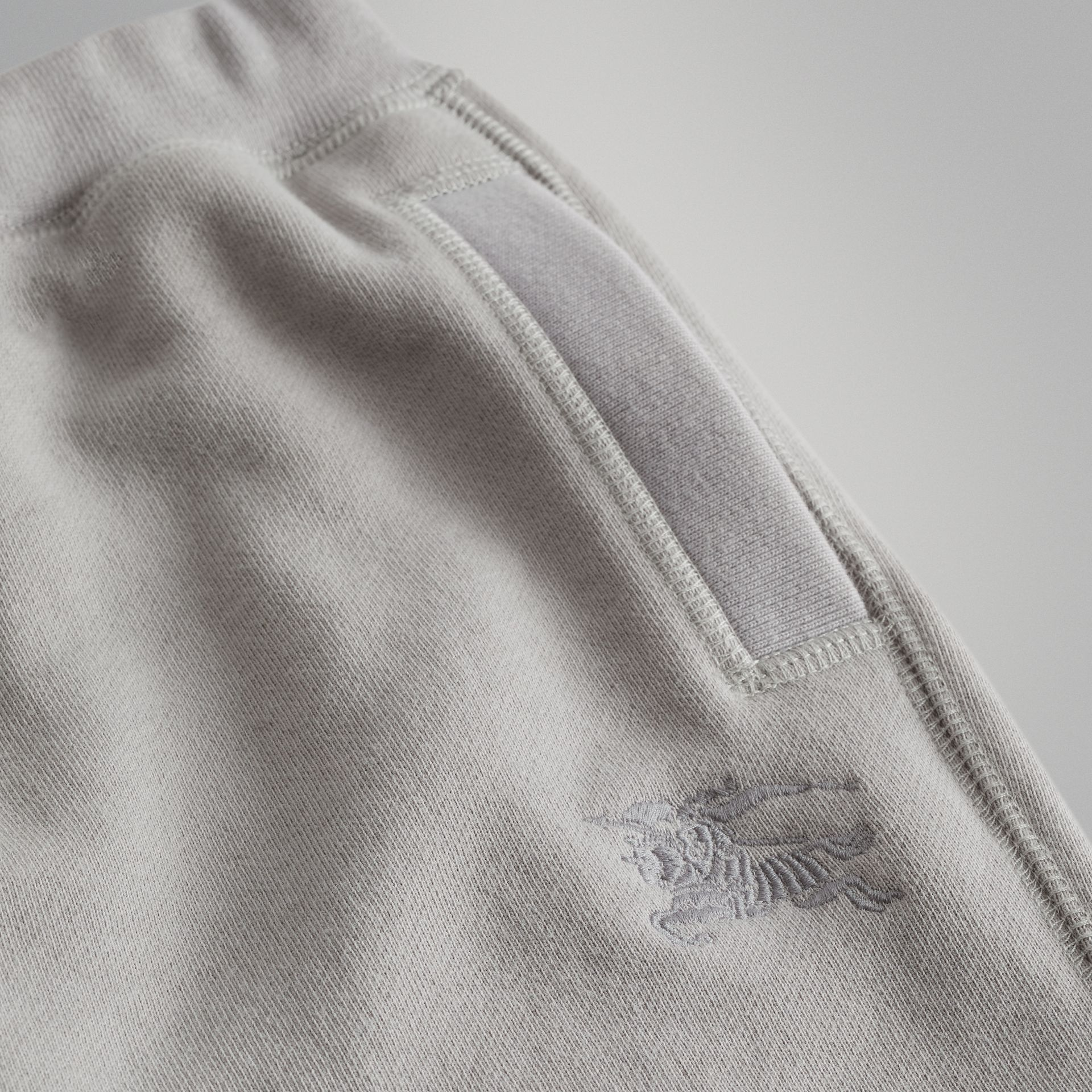 Cotton Jersey Trackpants in Chalk Grey Melange | Burberry United Kingdom - gallery image 1