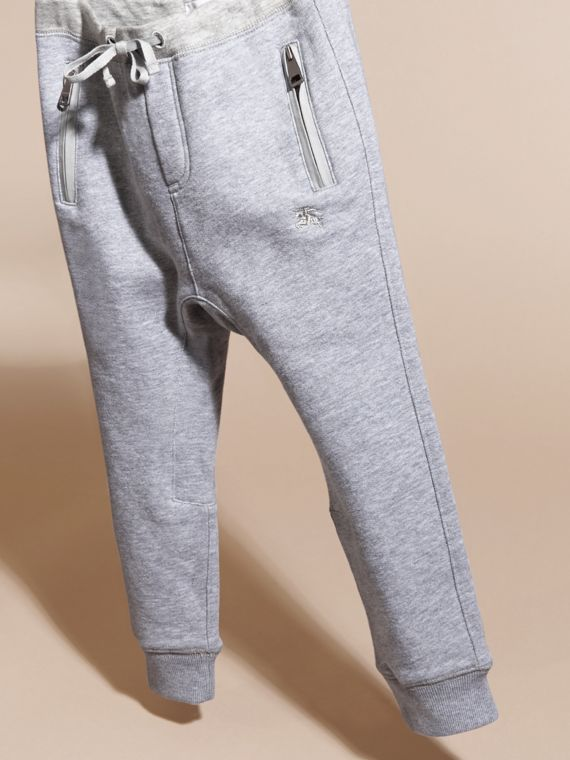 Mid grey melange Cotton Sweat Pants Mid Grey Melange - cell image 2