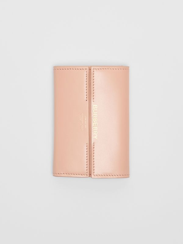 Horseferry Print Leather Folding Wallet in Blush Pink - Women | Burberry - cell image 3