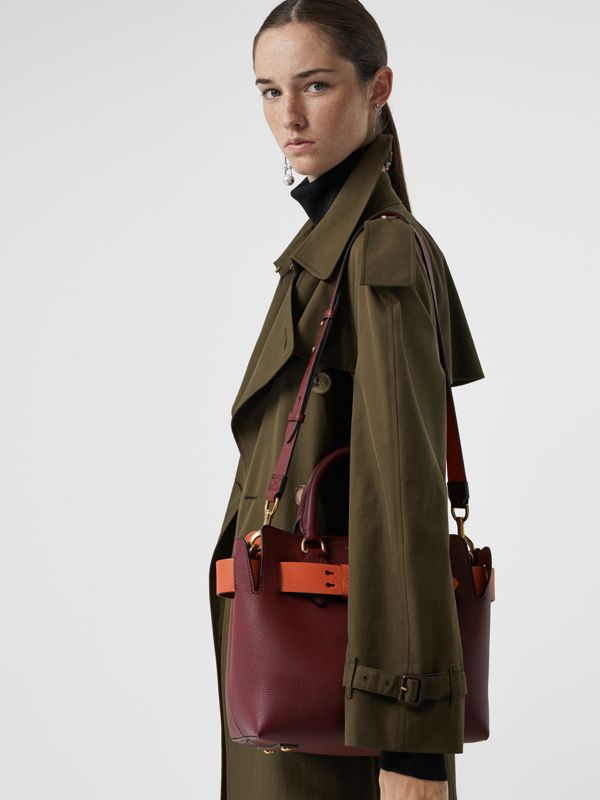 Borsa The Belt piccola in pelle (Rosso Violetto Intenso) - Donna | Burberry - cell image 3
