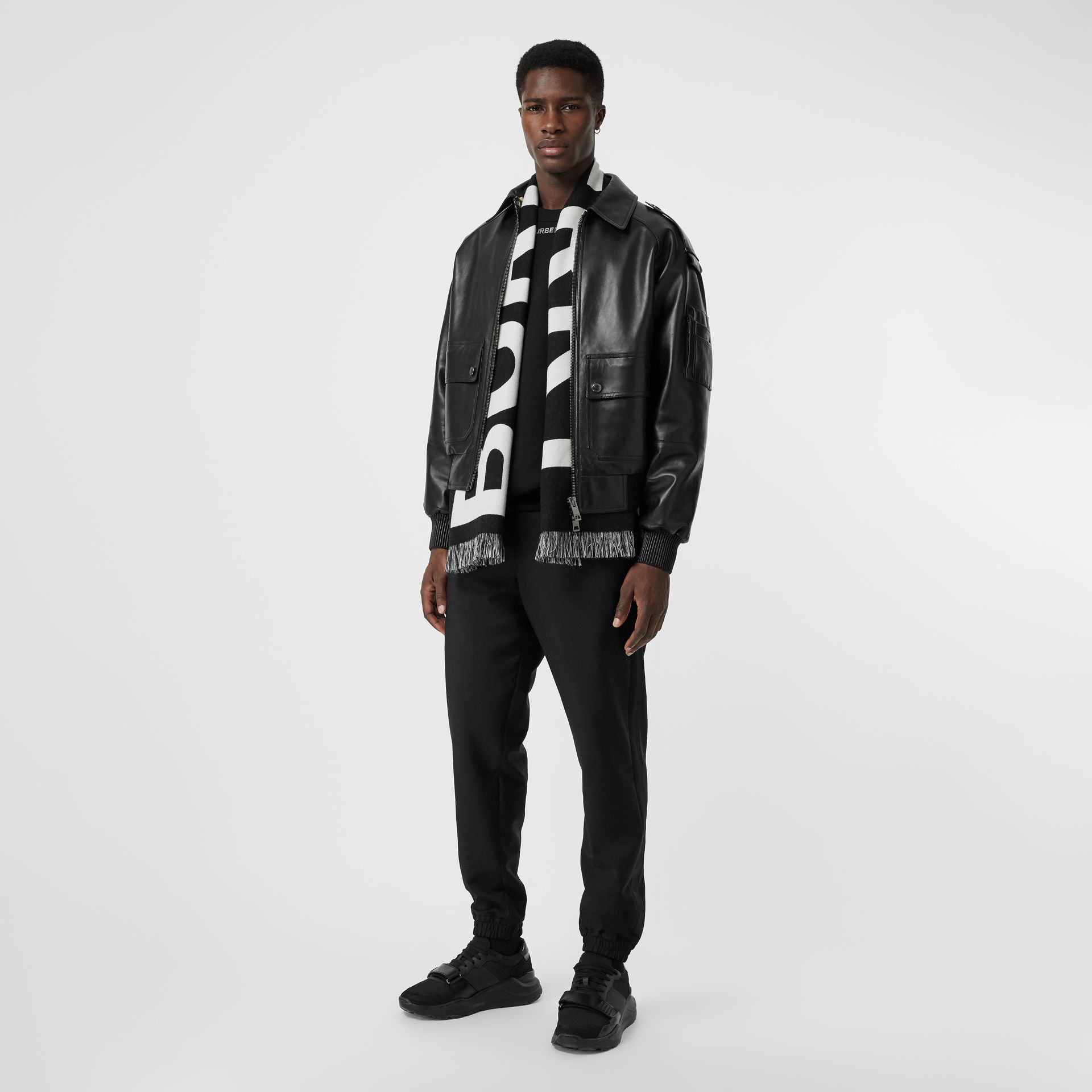 Lambskin Bomber Jacket in Black - Men | Burberry United Kingdom - gallery image 0