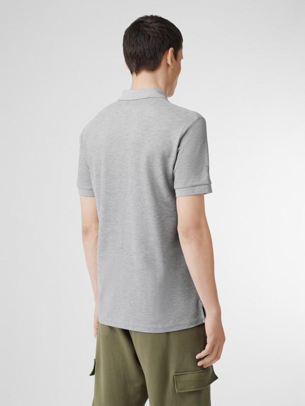 Monogram Motif Cotton Piqué Polo Shirt in White - Men | Burberry - cell image 2