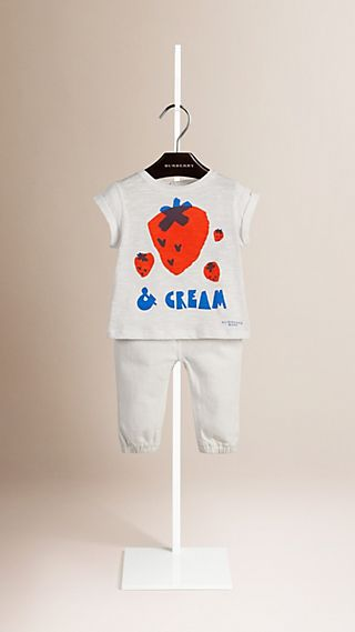 T-shirt en coton à motif graphique Strawberries and Cream