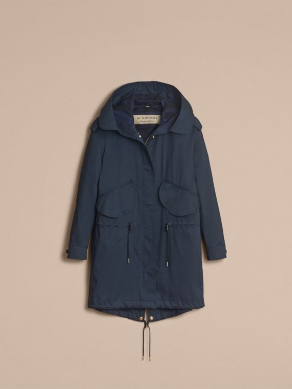 Hooded Water-resistant Parka in Navy - Women | Burberry - cell image 3
