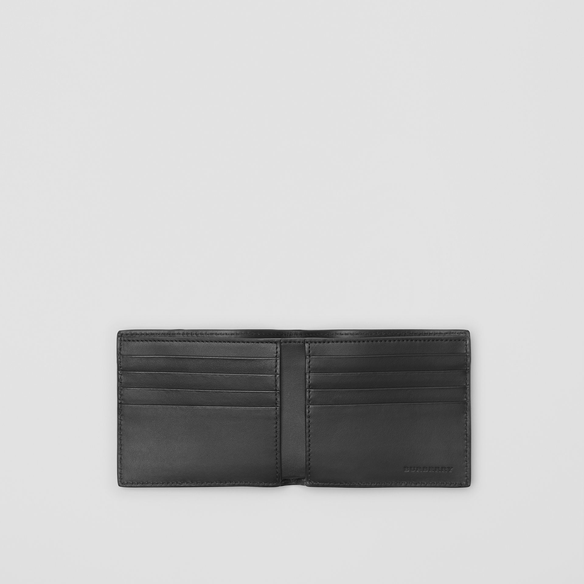 Small Scale Check International Bifold Wallet in Antique Yellow/black - Men | Burberry Singapore - gallery image 3