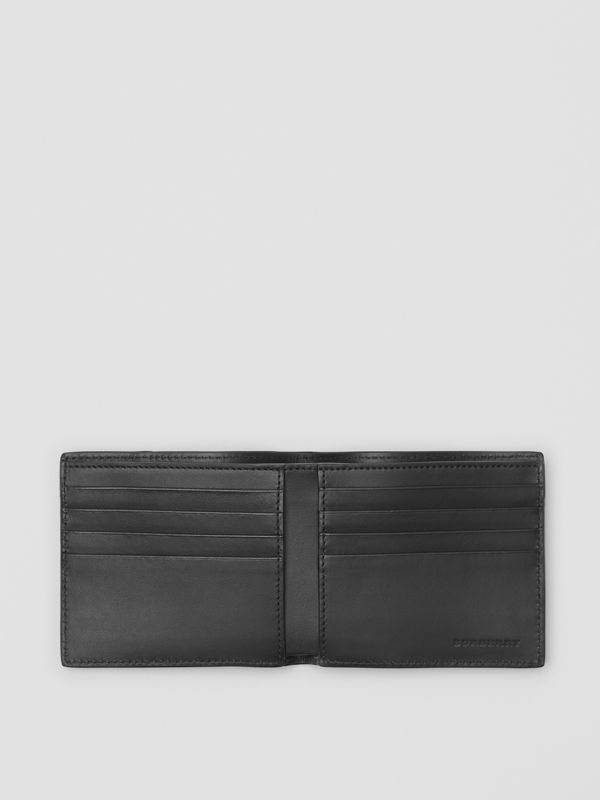 Small Scale Check International Bifold Wallet in Antique Yellow/black - Men | Burberry - cell image 3
