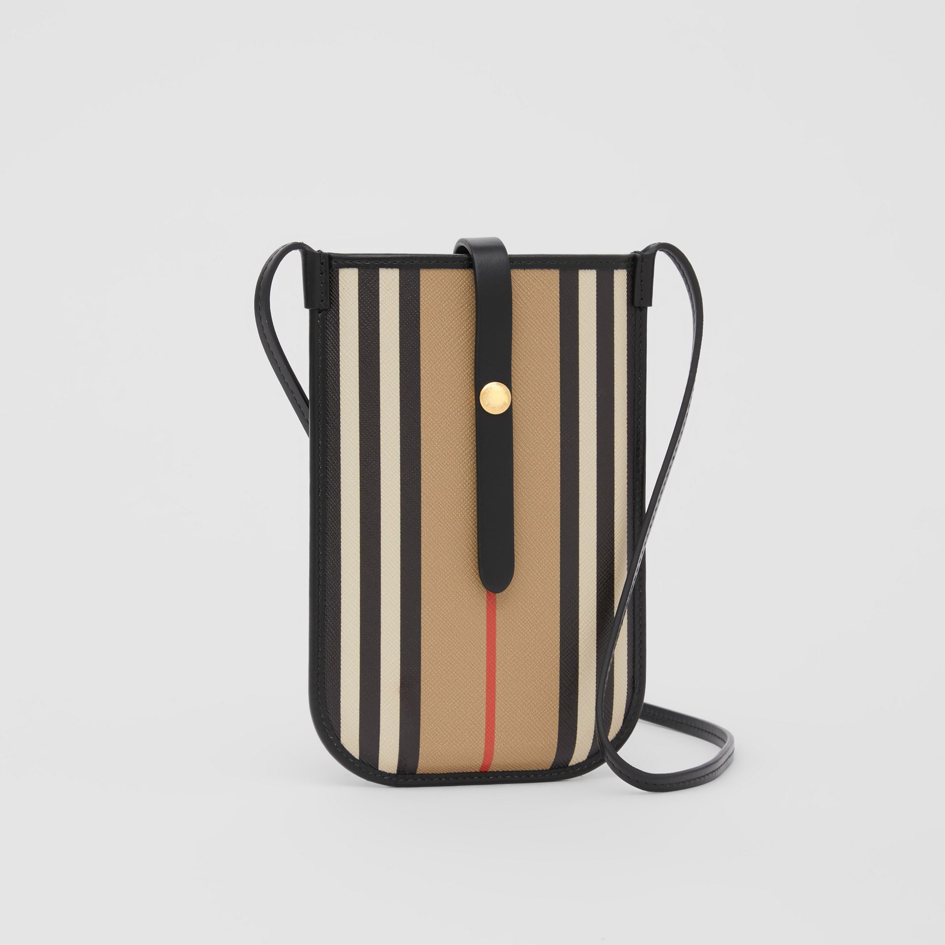 Icon Stripe E-canvas Phone Case with Strap in Archive Beige | Burberry - gallery image 5