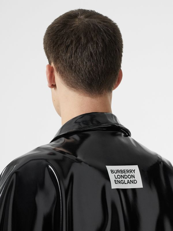 Vinyl Belted Cape in Black | Burberry Australia - cell image 3