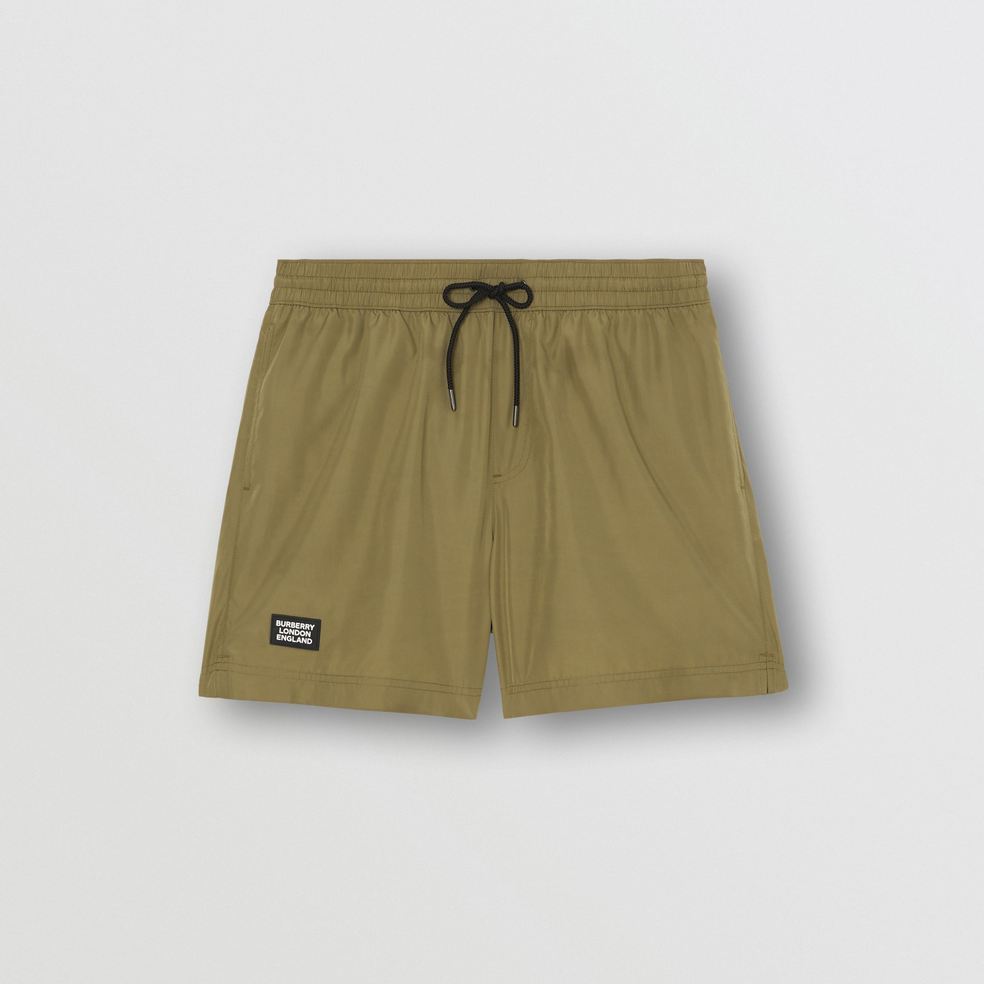 Logo Detail Drawcord Swim Shorts in Utility Green - Men | Burberry Hong Kong S.A.R - gallery image 2