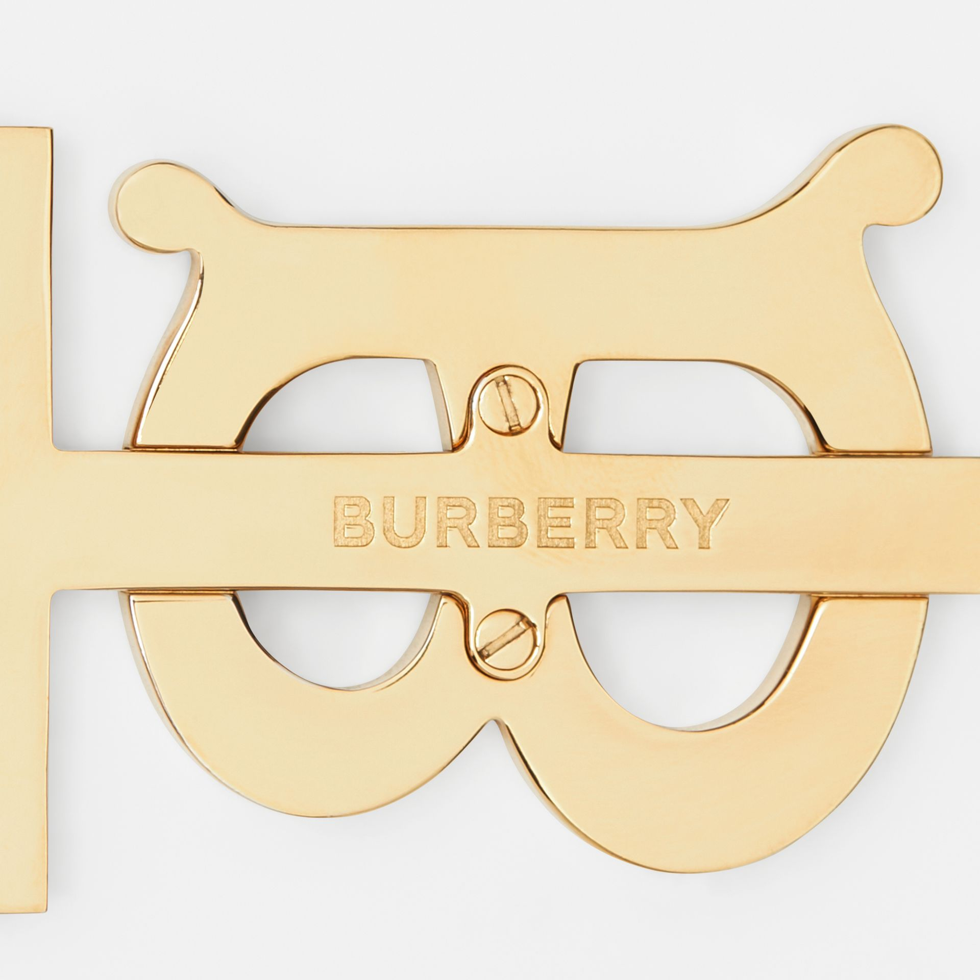 Monogram Motif Gold-plated Key Charm in Black - Women | Burberry - gallery image 1