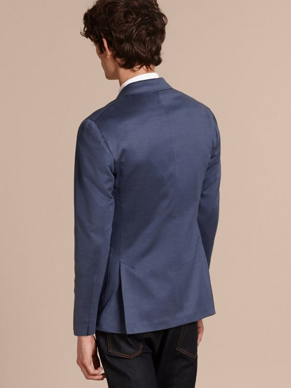 Mineral blue Slim Fit Tailored Cotton Jacket Mineral Blue - cell image 2