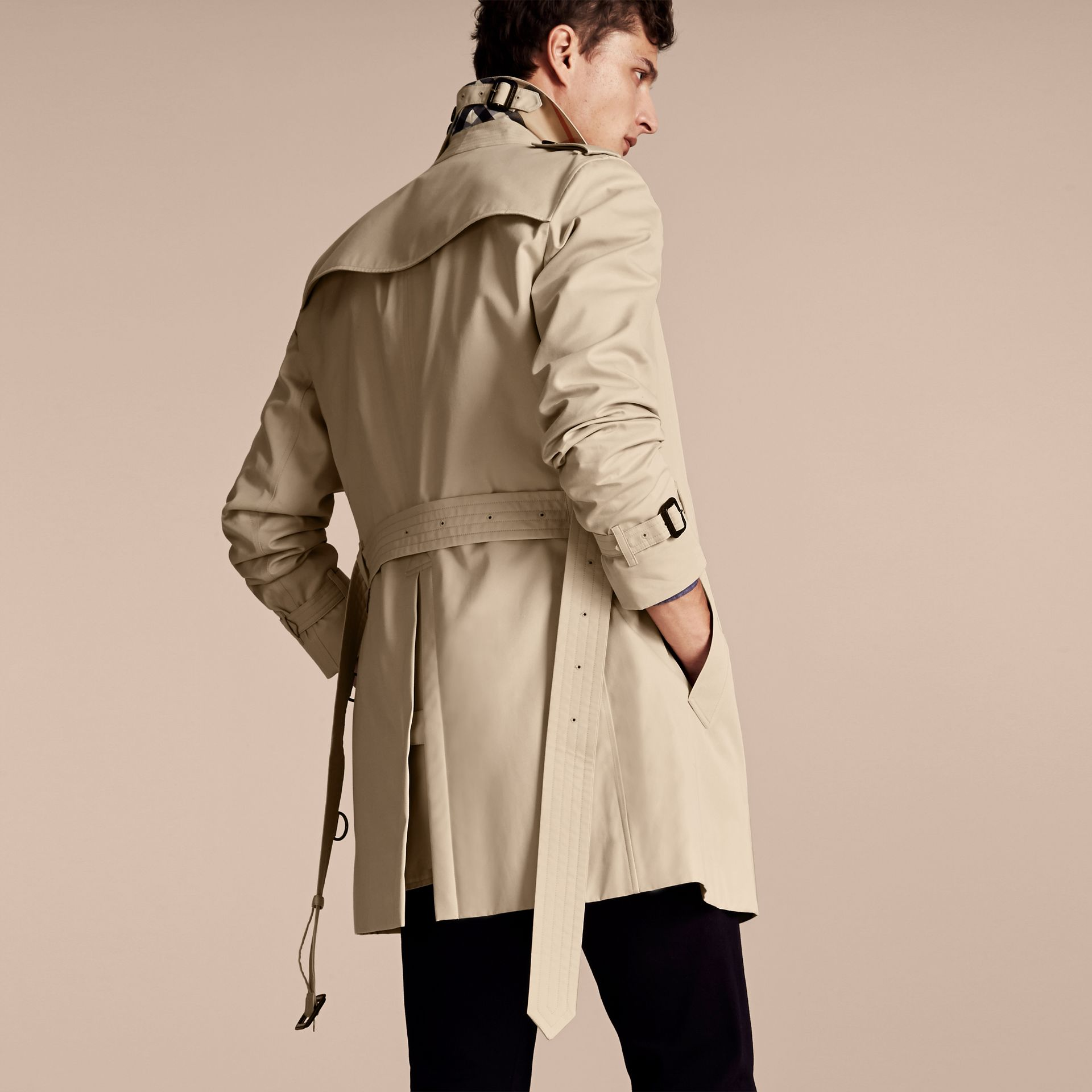 Stone The Chelsea – Mid-length Heritage Trench Coat Stone - gallery image 3