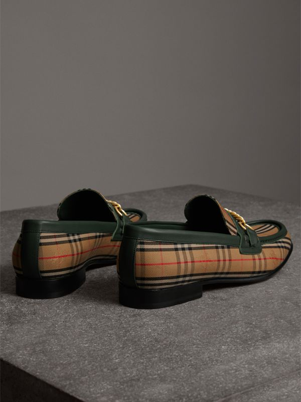 The 1983 Check Link Loafer in Dark Forest Green | Burberry - cell image 3