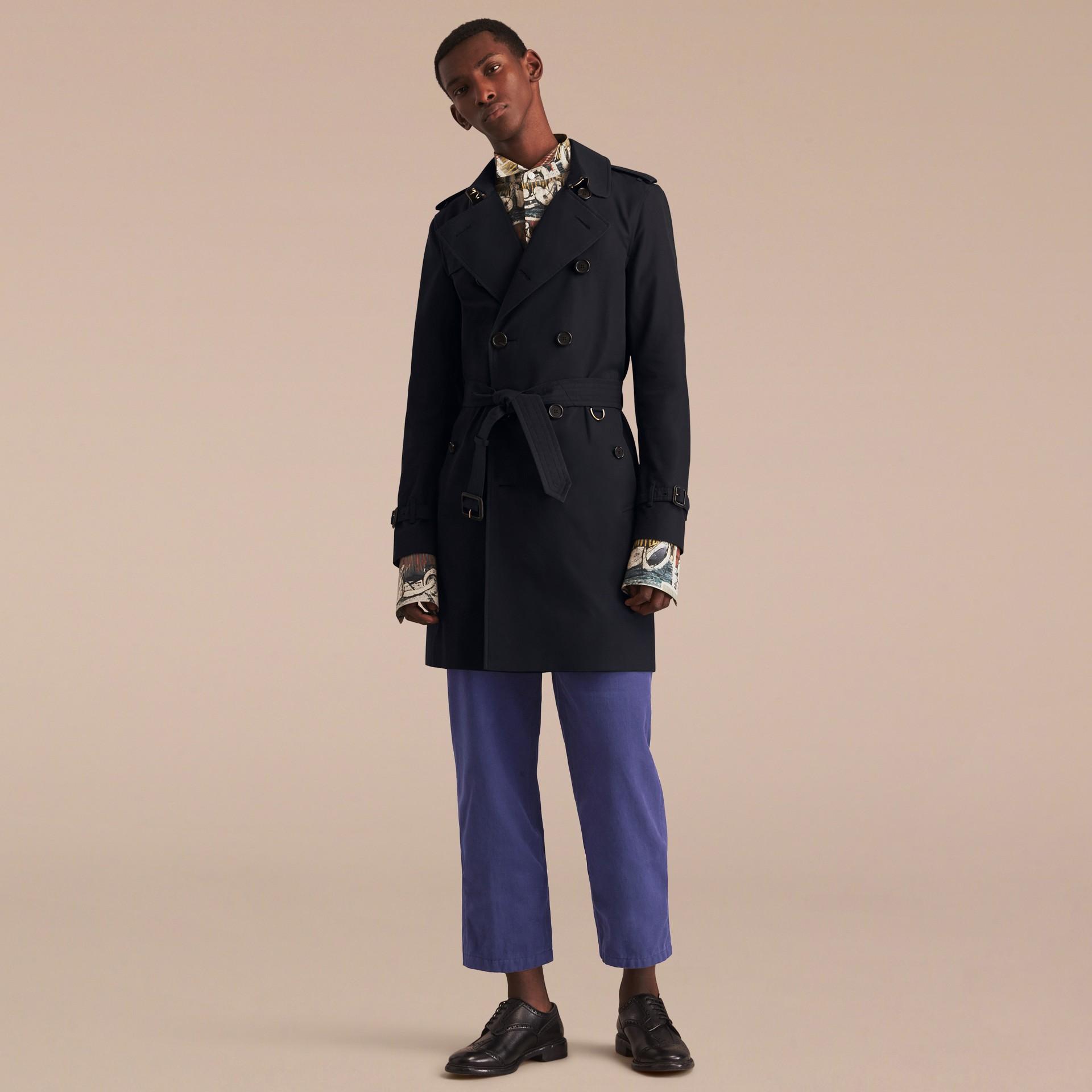 Azul marinho The Sandringham - Trench coat Heritage longo Azul Marinho - galeria de imagens 9