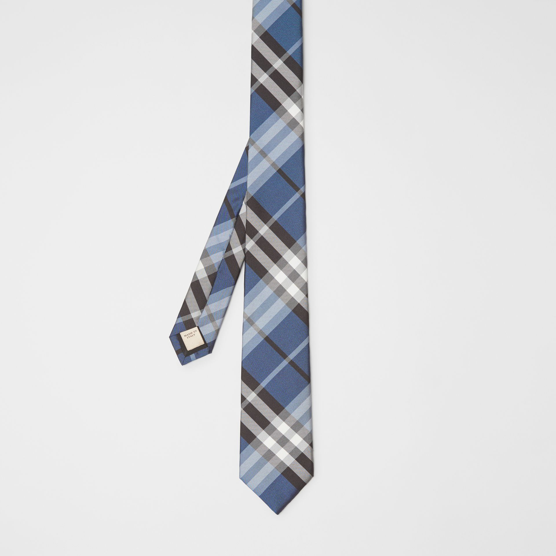 Modern Cut Vintage Check Silk Tie in Steel Blue - Men | Burberry - gallery image 4