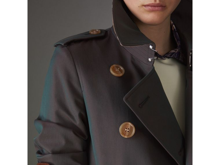 Tropical Gabardine Trench Coat in Dark Antique Green - Women | Burberry - cell image 4