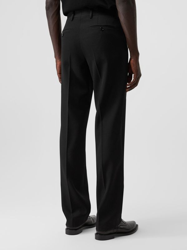 English Fit Pocket Detail Wool Tailored Trousers in Black | Burberry Australia - cell image 2