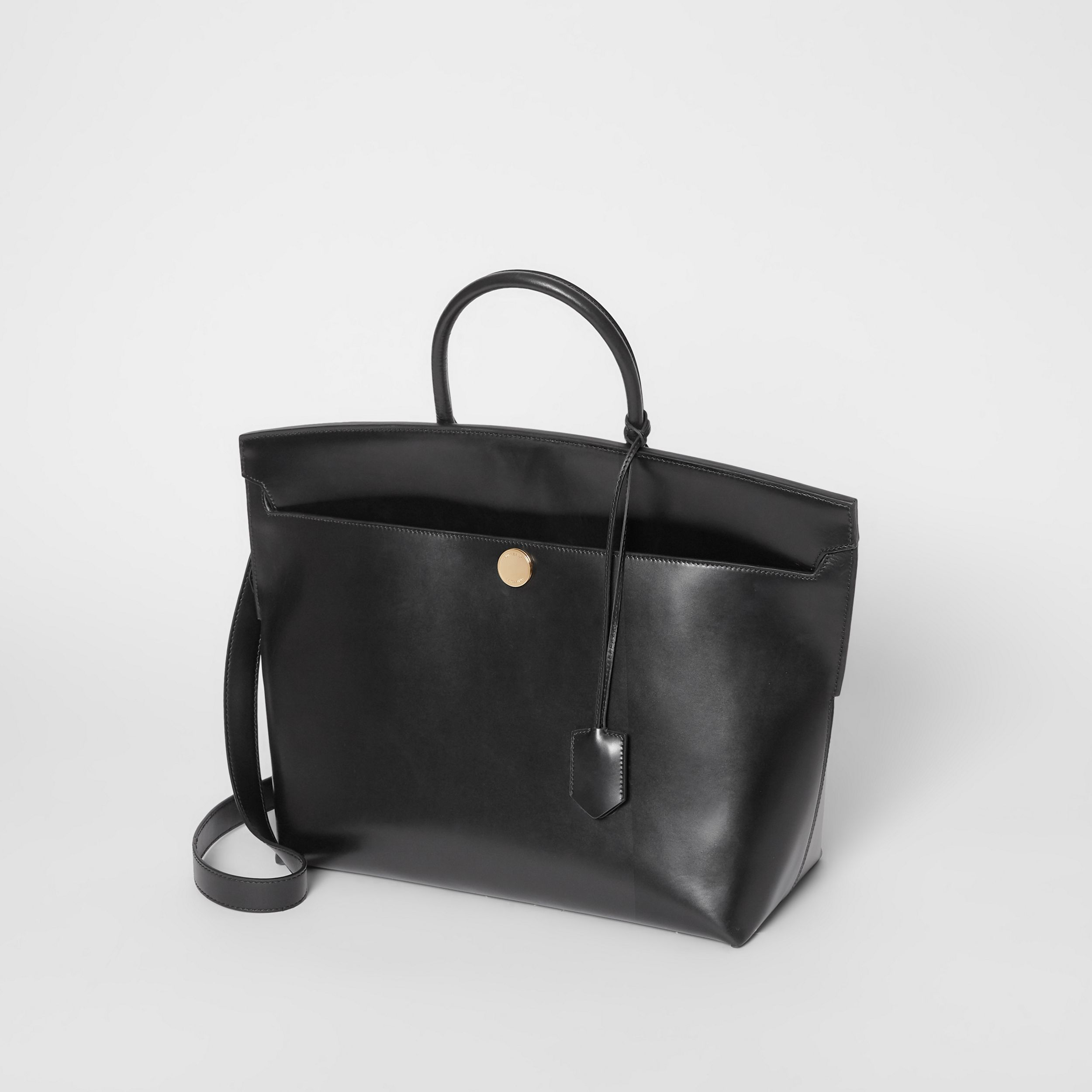 Leather Society Top Handle Bag in Black - Women | Burberry - 4