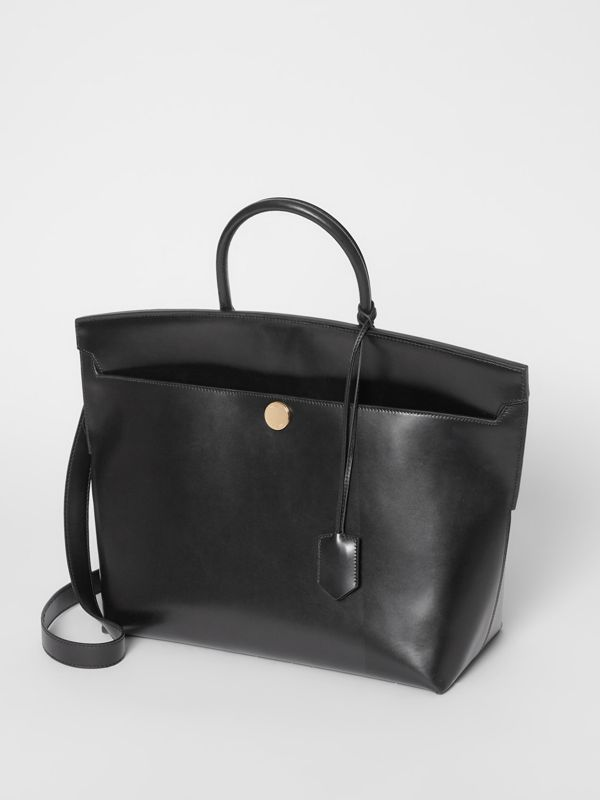 Leather Society Top Handle Bag in Black - Women | Burberry United States - cell image 3