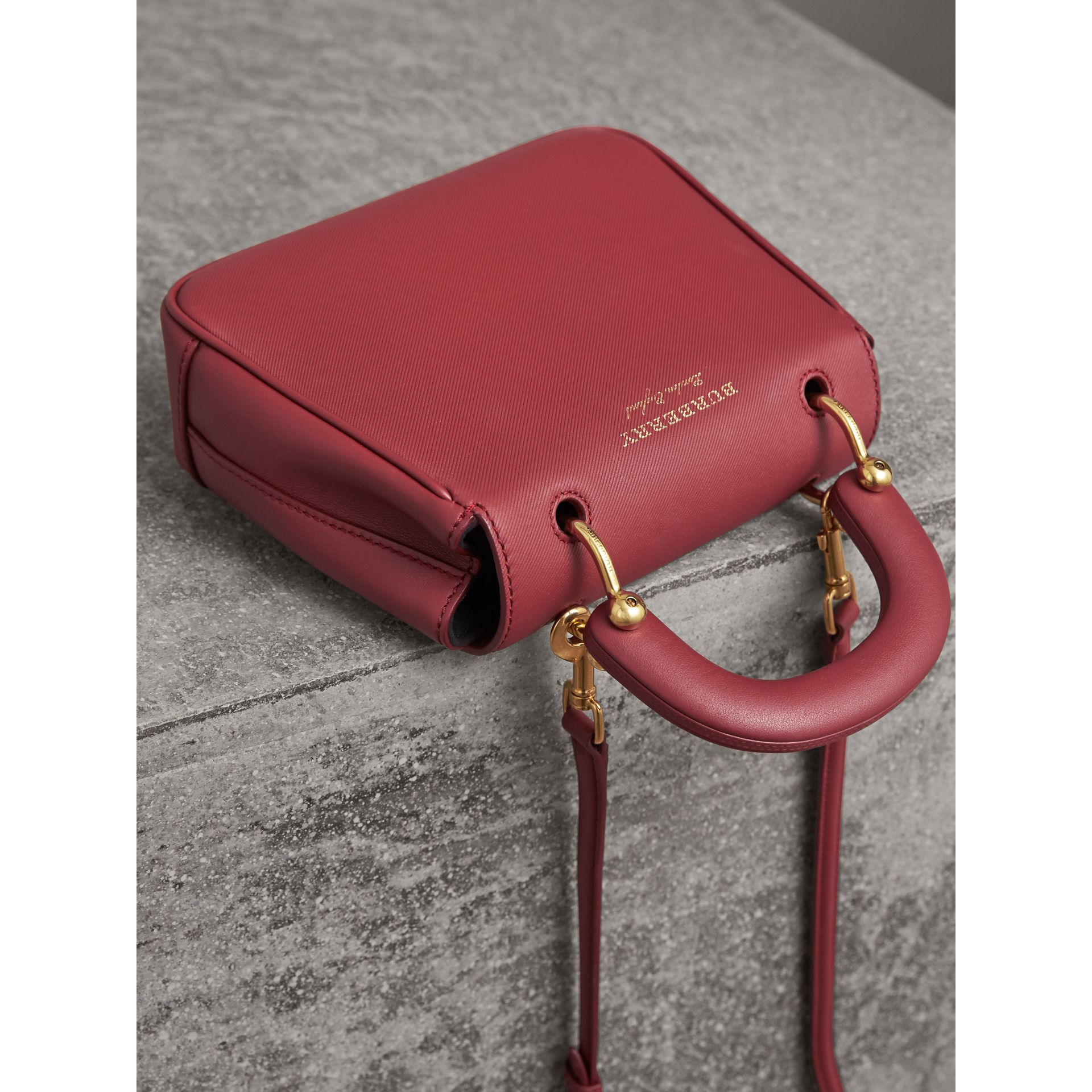 The Small DK88 Top Handle Bag in Antique Red - Women | Burberry United Kingdom - gallery image 4