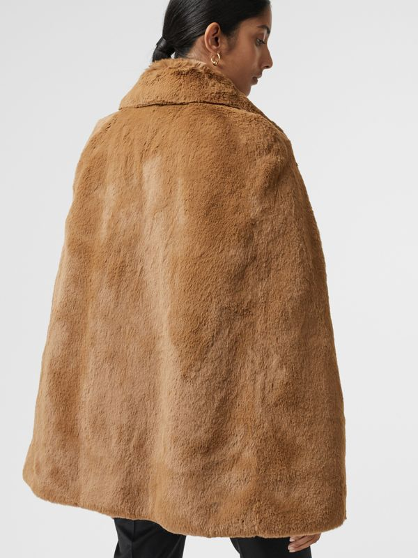 Faux Fur Cape in Camel - Women | Burberry United States - cell image 2