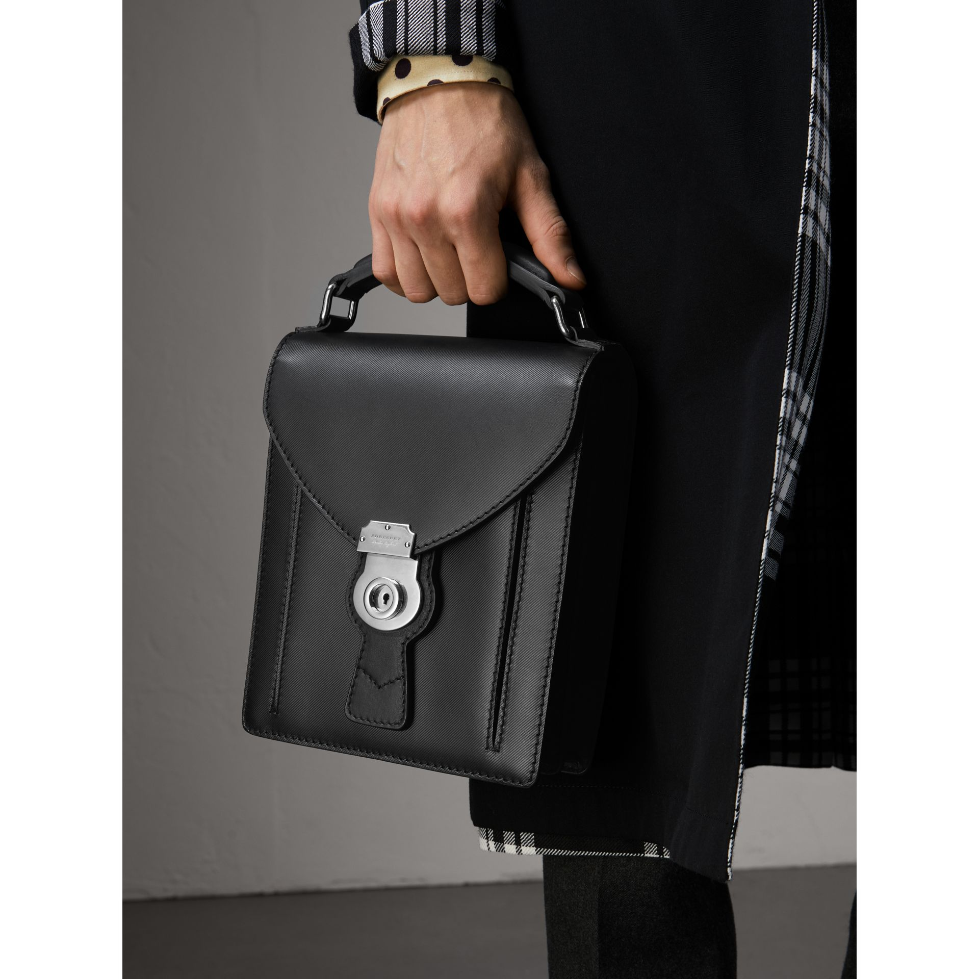 The Small DK88 Satchel in Black - Men | Burberry United Kingdom - gallery image 2