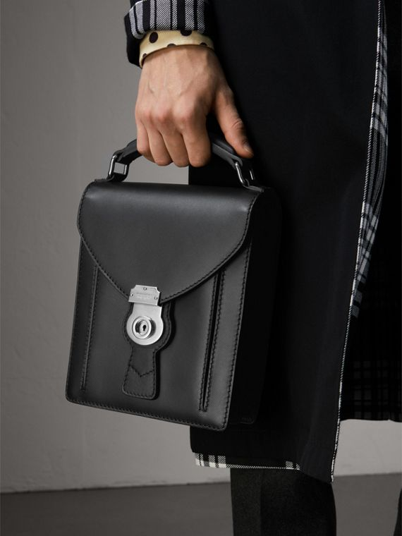 The Small DK88 Satchel in Black - Men | Burberry Australia - cell image 2