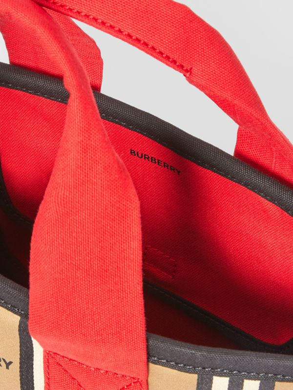 Icon Stripe Cotton Tote Bag in Honey - Children | Burberry - cell image 3