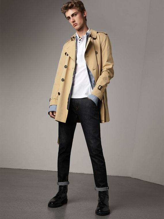 The Kensington – Mid-Length Heritage Trench Coat in Honey