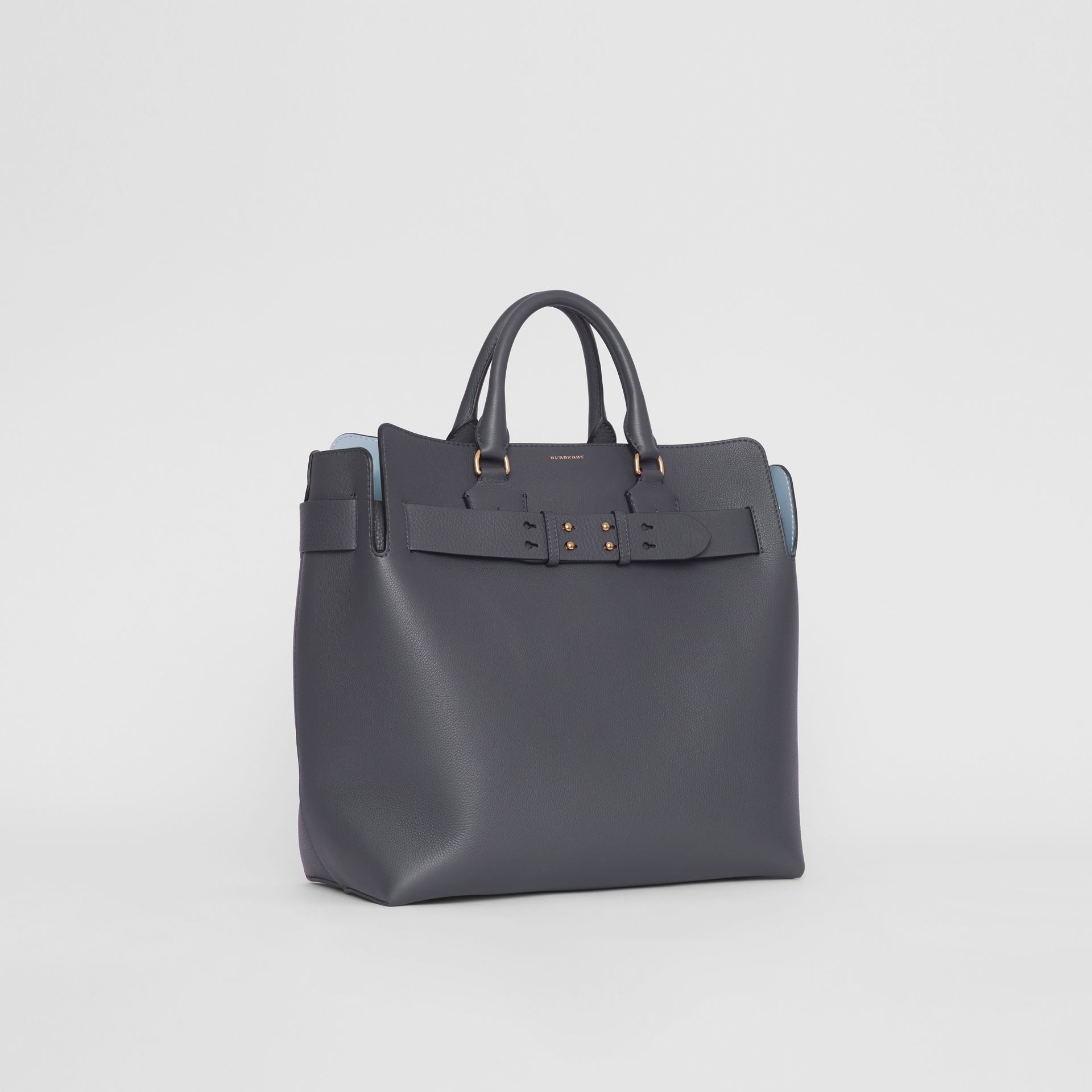 The Large Leather Belt Bag in Charcoal Grey | Burberry Australia - gallery image 8