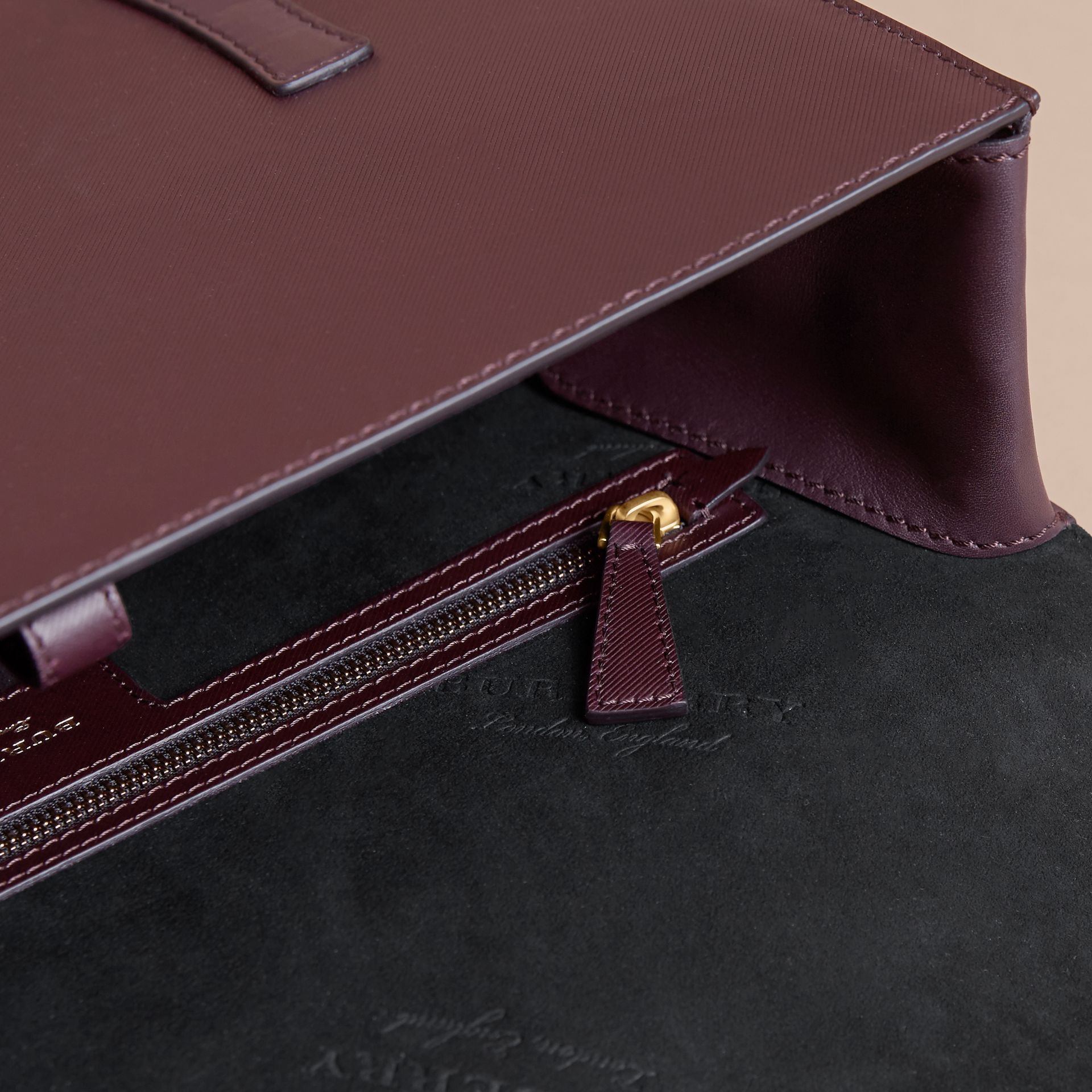 The Medium DK88 Satchel in Wine - Men | Burberry Singapore - gallery image 4
