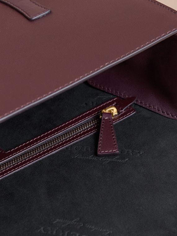 The Medium DK88 Satchel in Wine - Men | Burberry Australia - cell image 3