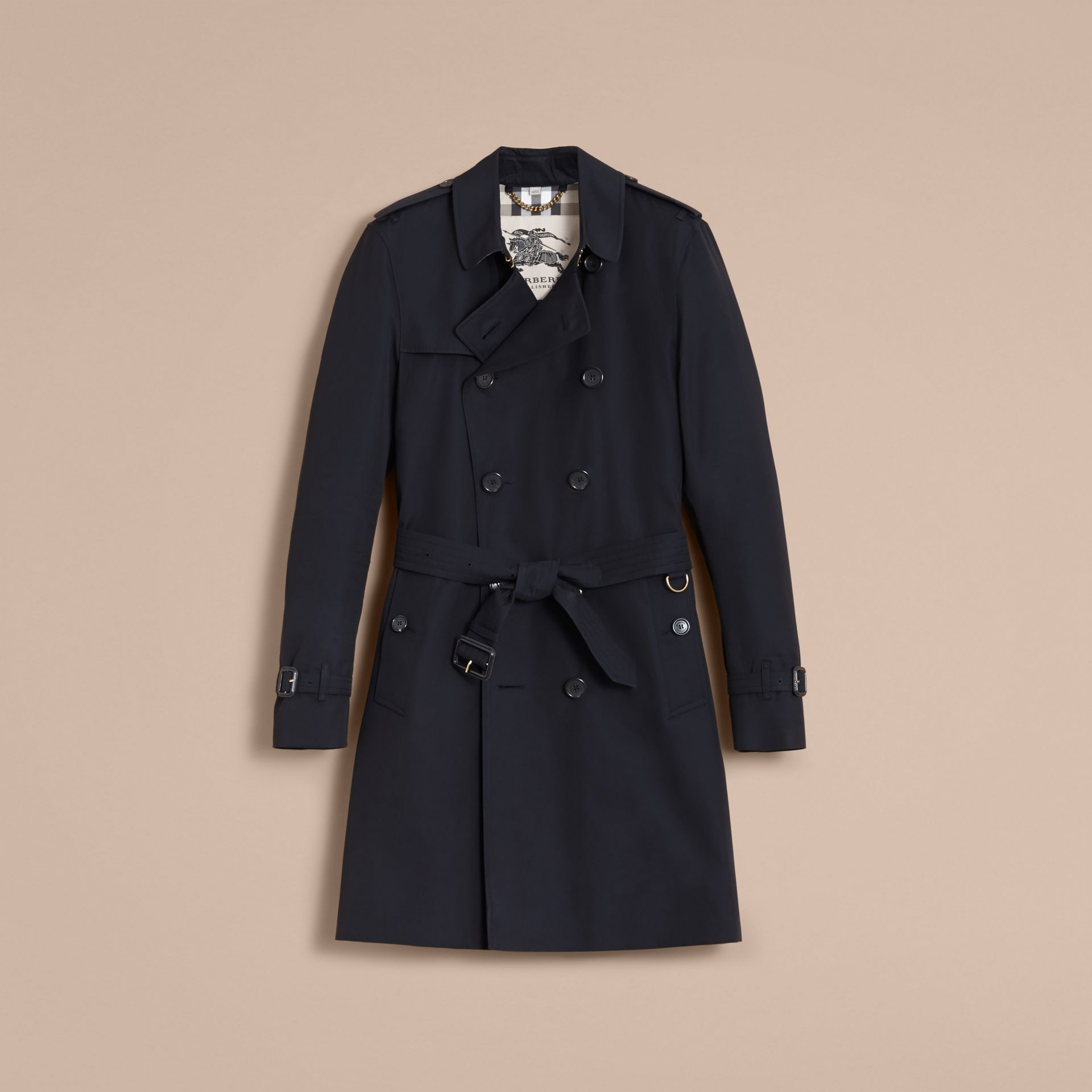 The Kensington – Long Heritage Trench Coat in Navy - gallery image 4