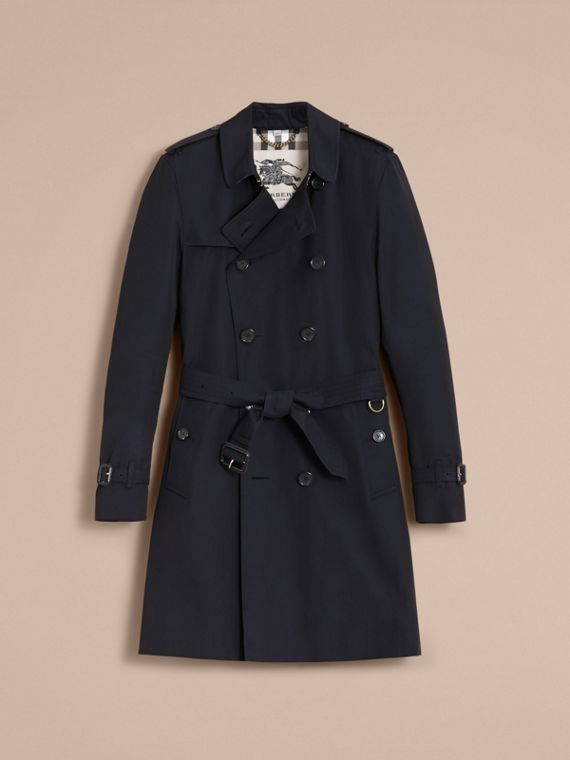 The Kensington – Long Heritage Trench Coat in Navy - Men | Burberry - cell image 3