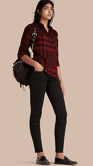 Jean skinny taille basse noir intense