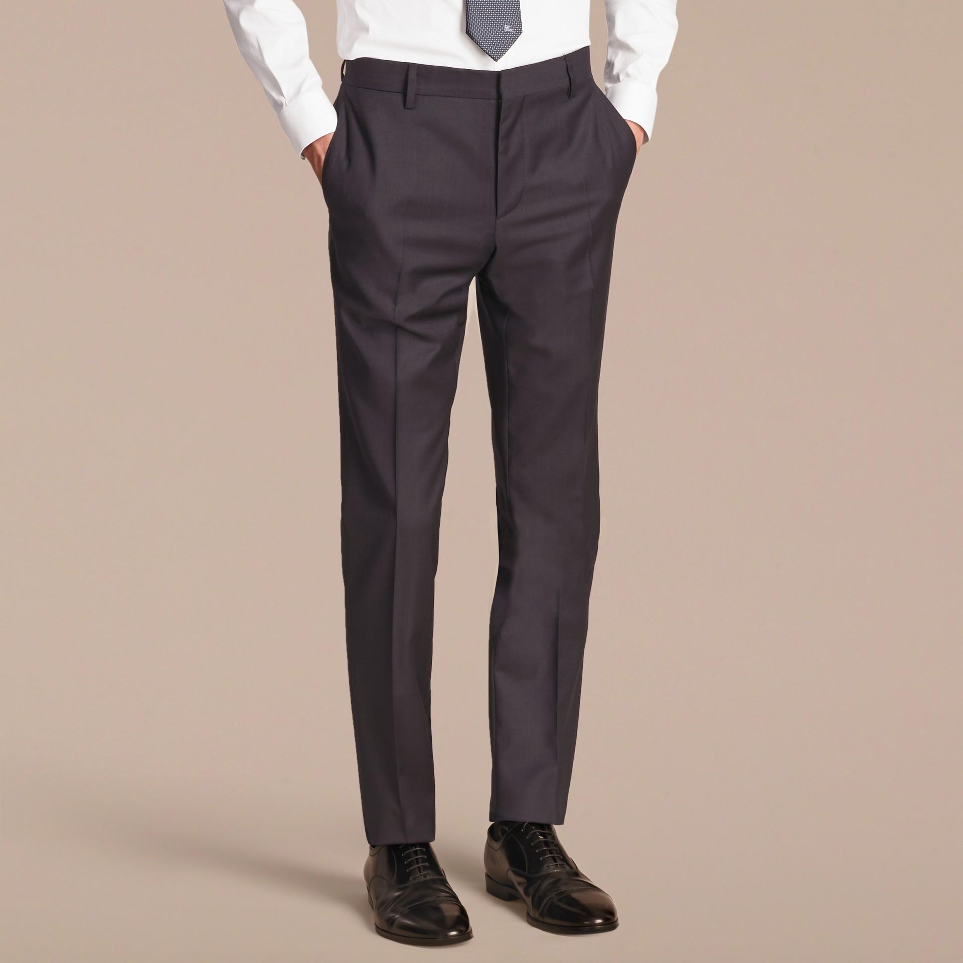 Slim Fit Travel Tailoring Wool Suit - gallery image 9