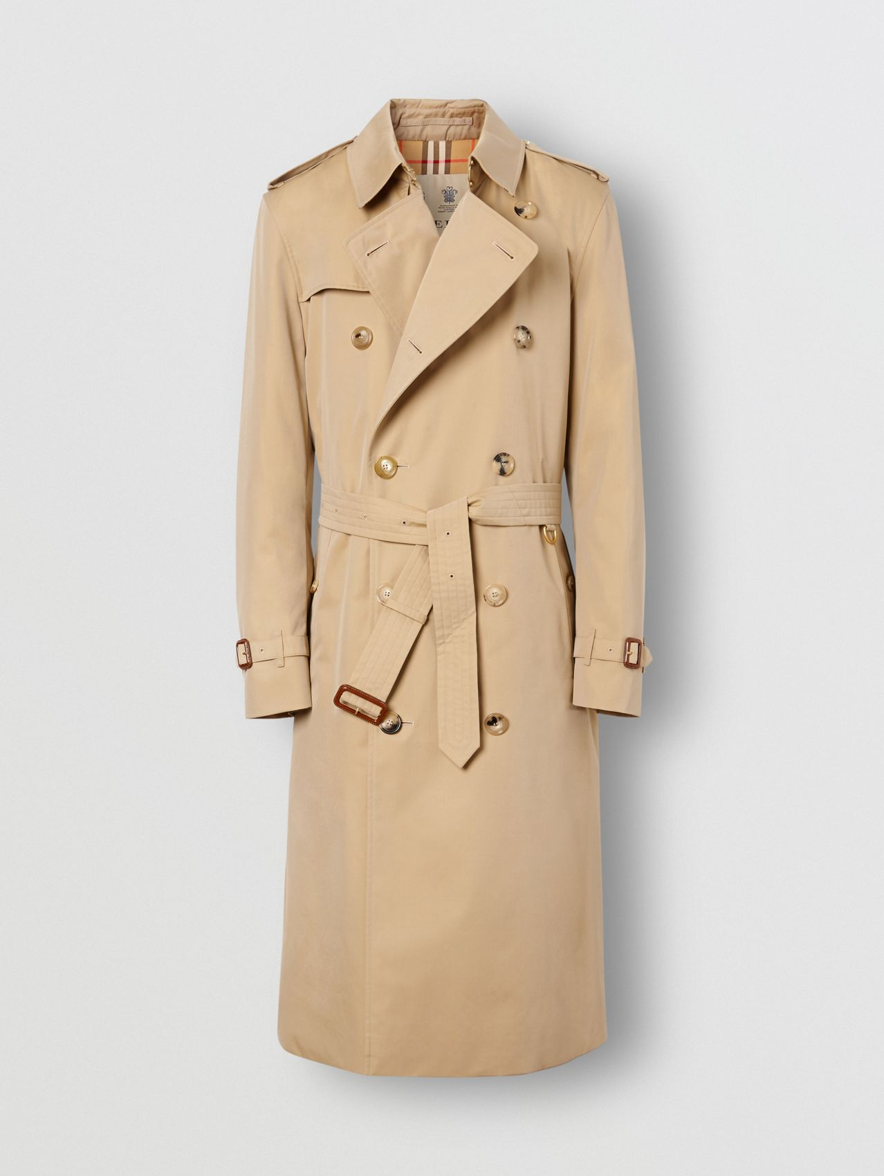 The Long Kensington Heritage Trench Coat (Honey)
