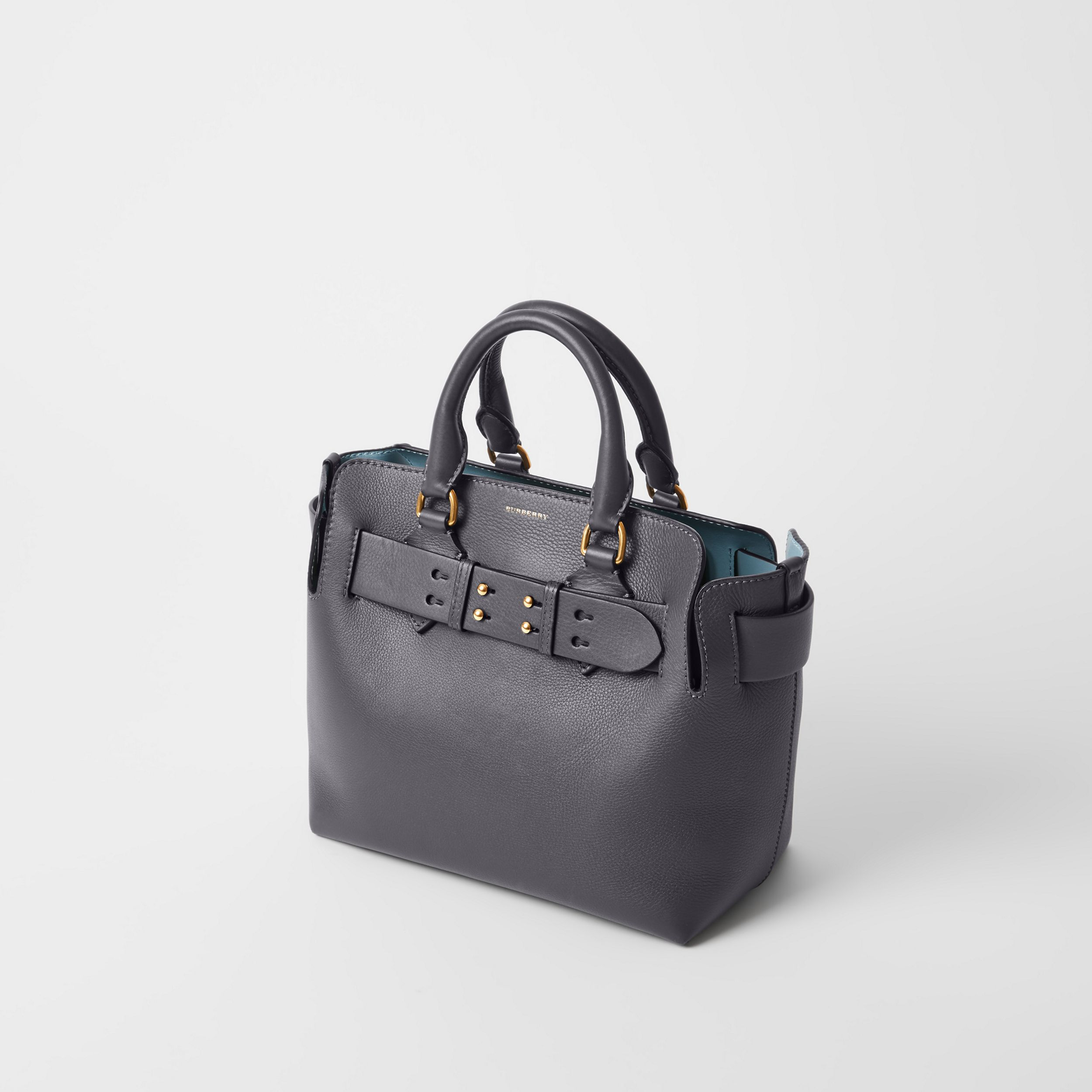 The Small Leather Belt Bag in Charcoal Grey - Women | Burberry - 4
