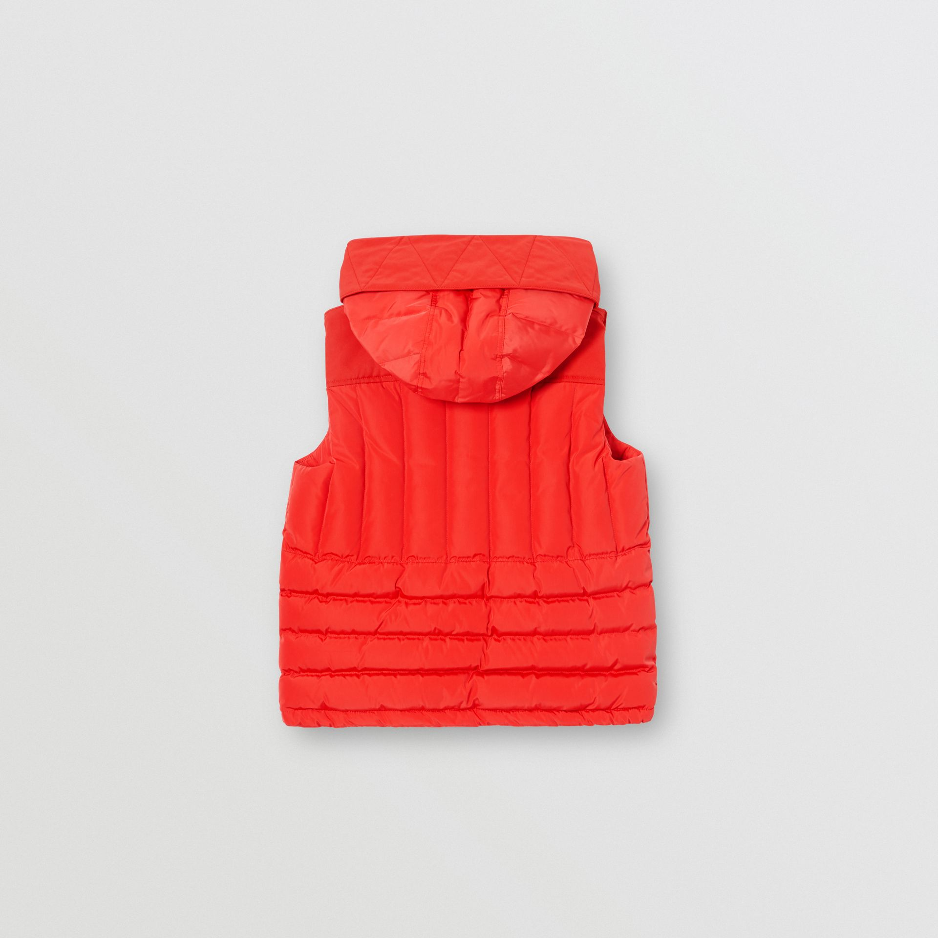 Down-filled Hooded Puffer Gilet in Bright Red | Burberry Australia - gallery image 4