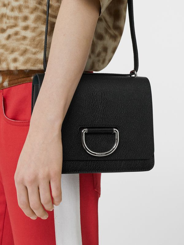 The Small Leather D-ring Bag in Black - Women | Burberry United Kingdom - cell image 2