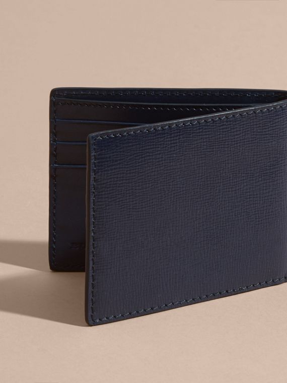 London Leather Slim Folding Wallet Dark Navy - cell image 2