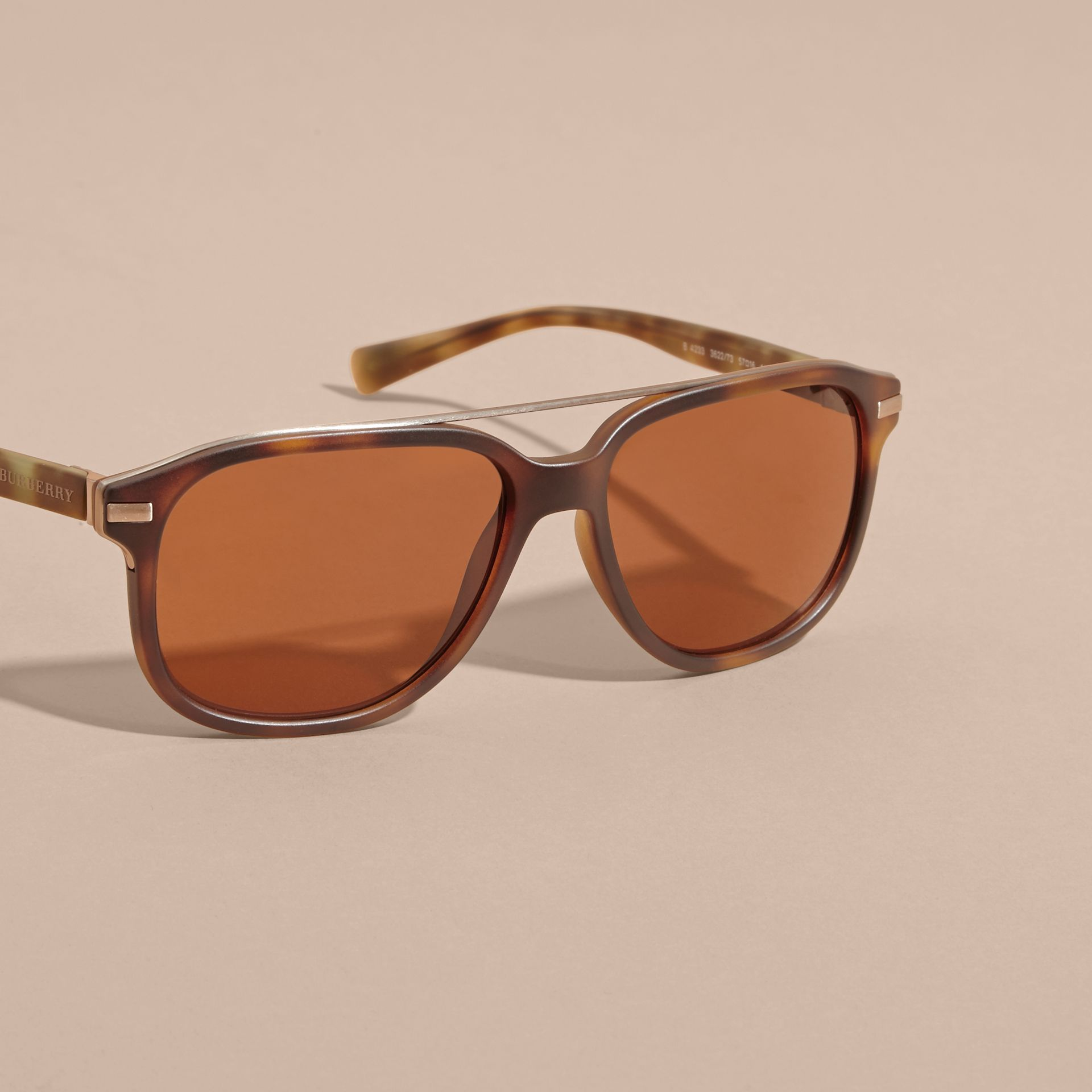 Square Frame Sunglasses in Tortoise Shell - gallery image 3
