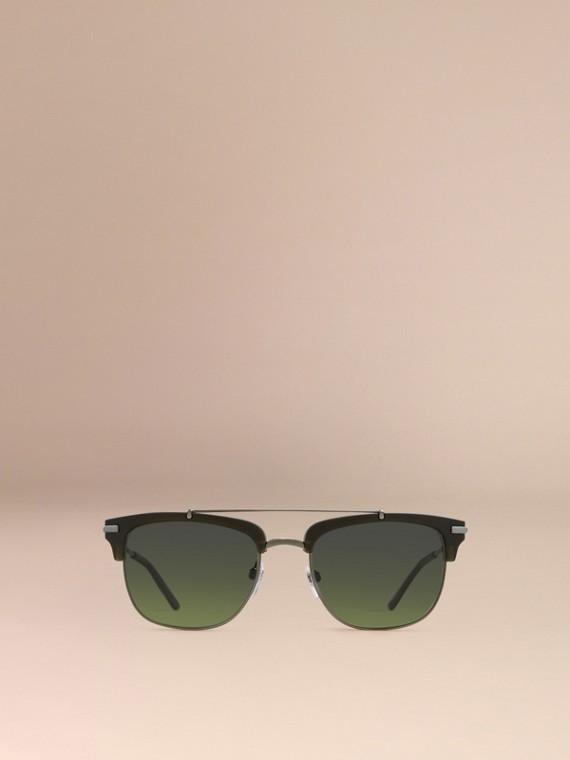 Olive Square Frame Sunglasses Olive - cell image 2