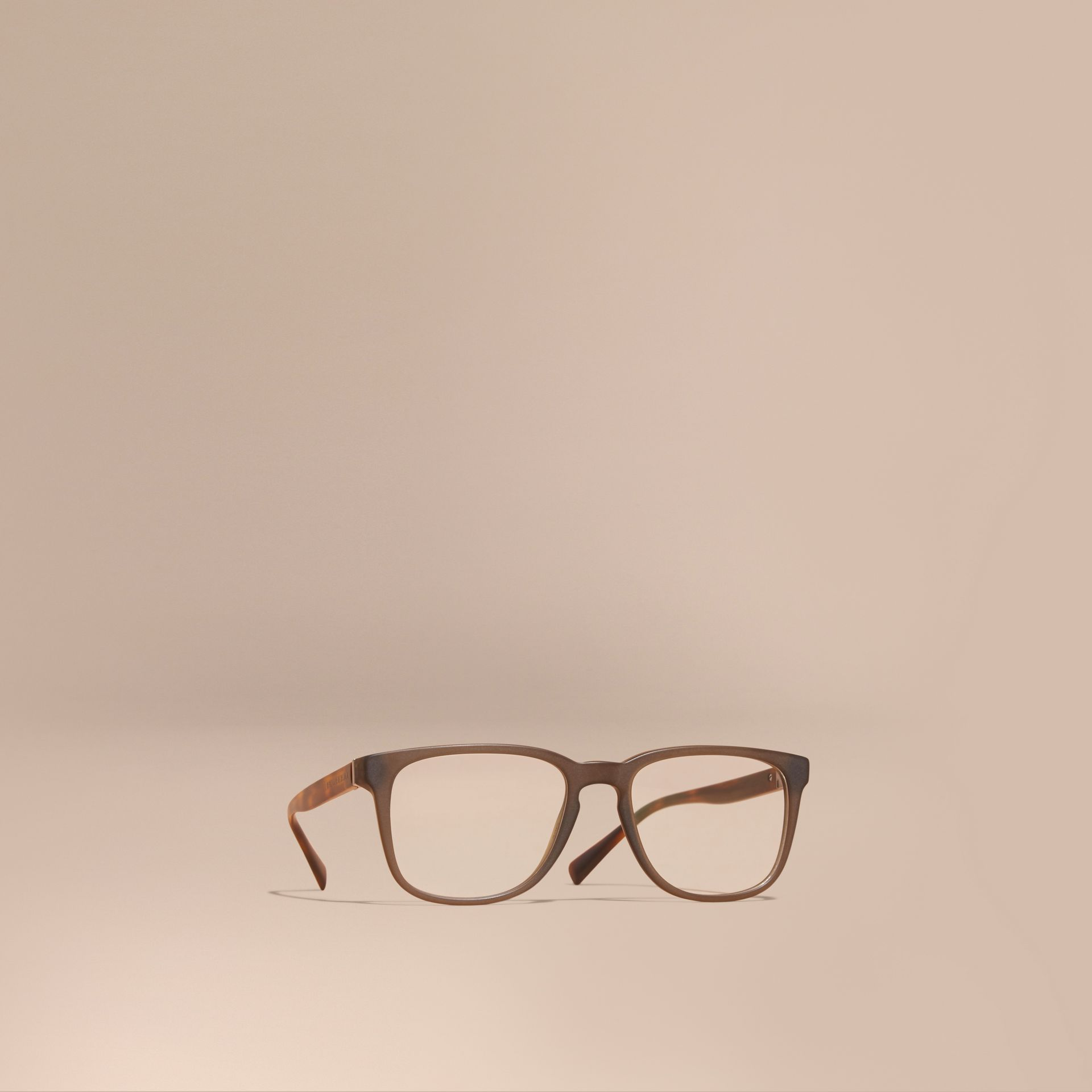 Square Optical Frames Olive - gallery image 1
