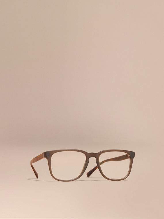 Square Optical Frames Olive